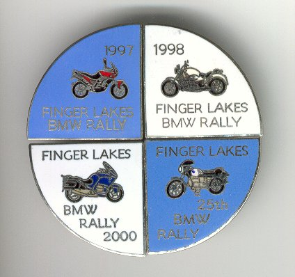 Rally Pins 1997 to 2000
